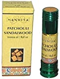 Patchouli Sandalwood - Nandita Incense Oil/Roll On - 1/4 Ounce Bottle