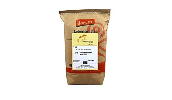 Bio para harina de trigo Medio 4 x 1 kg - demeter bio para harina de trigo Type 1050: Amazon.es: Hogar