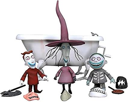 neca the nightmare before christmas action figure boxed set lock shock barrel bath tub - Barrel Nightmare Before Christmas