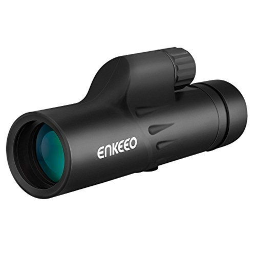 Enkeeo 8X30 Monocular Spotting Scope with Tripod, Fully Multi-Coated Telescope, Single Hand Focus for Bird Watching, Sports Events, Concerts, Hunting, Surveillance