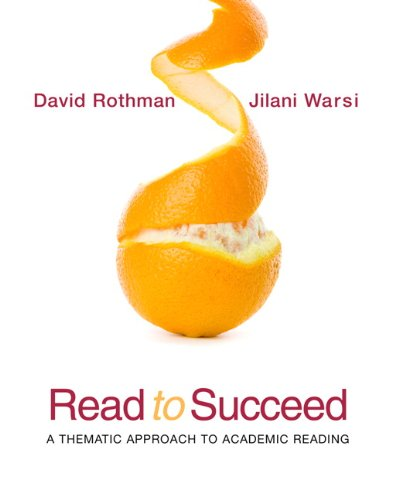 Read to Succeed: A Thematic Approach to Academic Reading