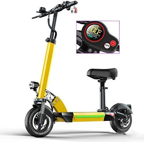 電動スクーター大人用折りたたみ式シート、48V / 13AHバッテリー、最大速度55km / h、50km長距離、携帯電話用USB充電、防水LCDディスプレイ、高さ調整可能E-スクーター、200KGの重量をサポート