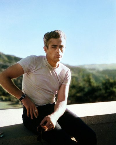 Rebel Without a Cause James Dean in white t-shirt Griffith Park 16x20 Poster