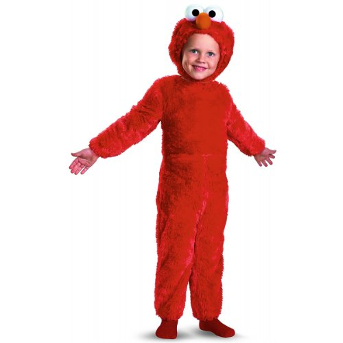 Sesame Street Elmo Comfy Fur Boys Costume, Large/4-6