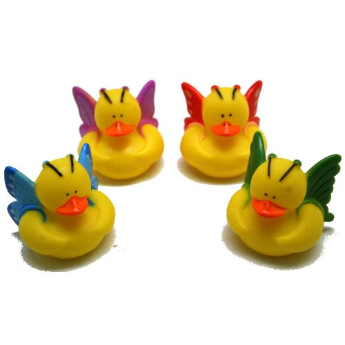 12 Butterfly Rubber Ducks by OTC
