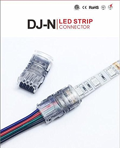FINELED 4pin RGB 5050 waterproof LED Strip Connector ,10PCS Connect Wire to Strip, Applicable for RGB 10mm Outdoor Silicone Covered PCB Board, 22 - 20 AWG Cable Without Stripping the Wires by FINELED (Image #5)