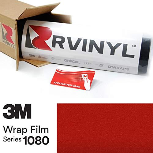 3M 1080 G363 Gloss Dragon FIRE RED 5ft x 1ft W/Application Card Vinyl Vehicle Car Wrap Film Sheet ()