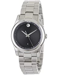 Movado Womens 0606482 Movado Sportivo Stainless-Steel Black Museum Dial Bracelet Watch