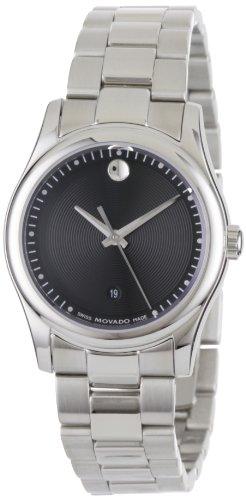 Movado Women s 0606482 Movado Sportivo Stainless-Steel Black Museum Dial Bracelet Watch