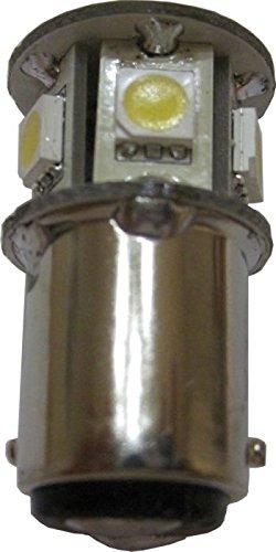Multipack of Three (3) of LED 1W 12V White Omni Bulb Miniature 1004 BA15D 7 x 5050 SMD ()