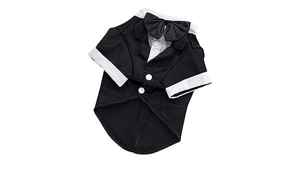 Xiaohongmao Camisa para Perro, Camisa de Boda Formal Esmoquin con ...
