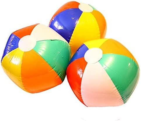 Amazon.com: Dazzling Toys – Pelota hinchable de playa 9-Inch ...