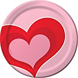 Creative Converting 96-Count Sturdy Style Dessert Plates, Valentine Hearts