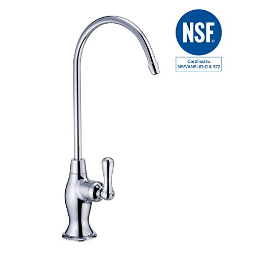 Polished Chrome Water - NSF 100% Lead Free Faucet Drinking RO Water Filtration Reverse Osmosis Faucet Tap(Polished Chrome)