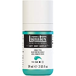 Liquitex Professional Soft Body Acrylic Paint 2-oz bottle, Cobalt Teal