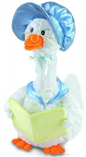 Blue Mother Goose Animated Soft Plush Toy CB42860 Recites 7 Stories Nursery Rhymes