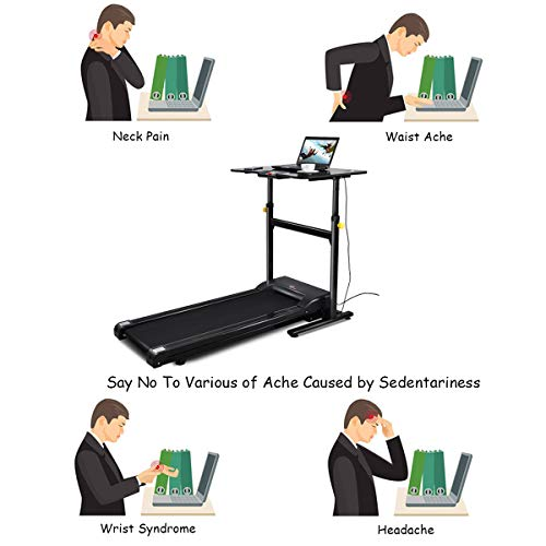 Electric Treadmill Desk: Goplus Treadmill Desk Standing Walking Treadmill Electric
