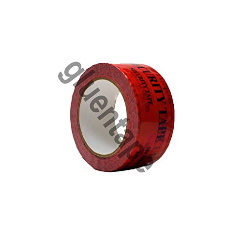 RED Tamper Evident Security Packaging Tape, 2