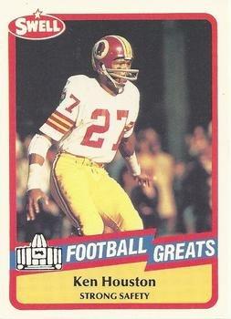 Cheap Ken Houston football card (Washington Redskins) 1989 Swell Greats  hot sale