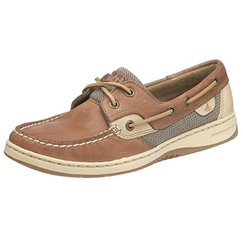 Sperry Top-Sider Women's Bluefish 2-Eye Boat Shoe,Linen/Oat,10 M