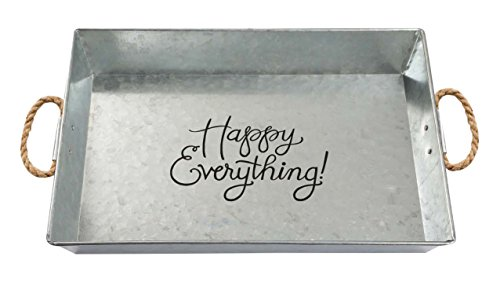 Brownlow Gifts Happy Everything Large Galvanized Metal Serving Tray ()