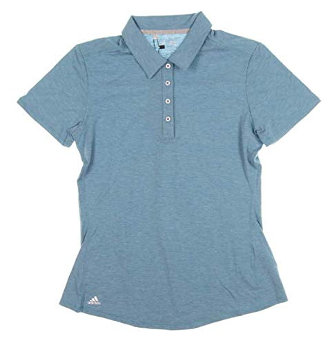 adidas Golf Women's Essentials Heather Short Sleeve Polo, Lake Blue Heather, ()