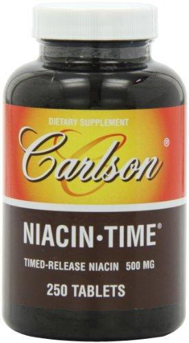 Карлсон Ниацин времени 500 мг, 250 таблеток