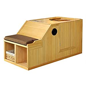 "Radiant Saunas BSA2101 Serenity Hemlock Infrared Half Sauna, 59"" x 29.5"" x 30.5"", Natural"