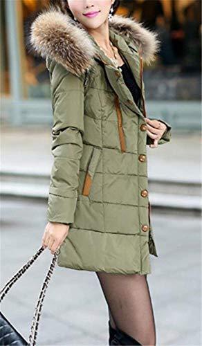 Taille Manteau Fourrure Grande Capuchon Doudoune Hiver Femme avec xSZ66R