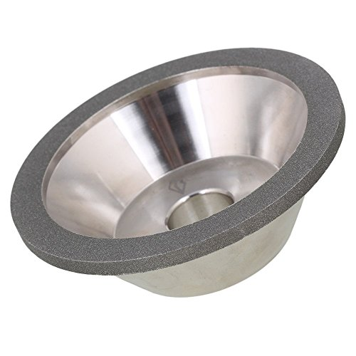 Ewead, 100x35x20mm Silver Cup Bowl Shape Electroplate Diamond Manganese Steel Grinder Grinding Wheel Cutter Cutting Tool with 400# Grit