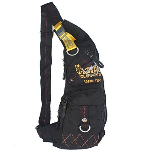 Innturt Nylon Sling Bag Backpack Shoulder Bag Daypack Large Black