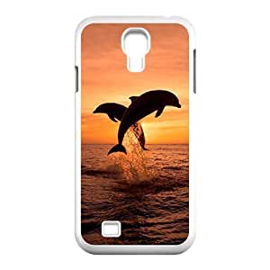 Cool PaintingDolphin Diy Case Sea Shell Cover For Samsung Galaxy S4 i9500 with Fashion Style MK291616