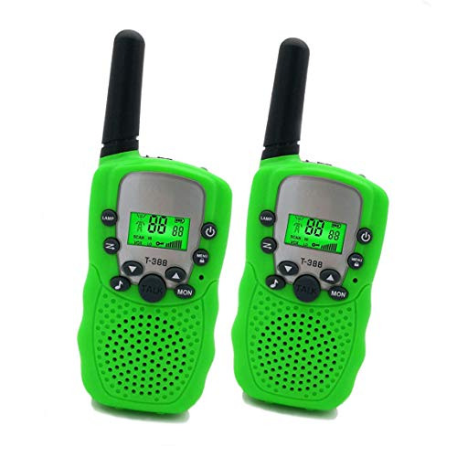 BlTy Toys for 4-5 Year Old Boys, Long Range Walkie Talkies for Kids Outdoor Toys Games Gifts for 3-12 Year Old Boys Girls Birthday Presents,1Pair (Green) (Best Present For 3 Year Old)