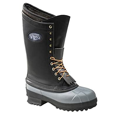 Amazon.com | Whites Boots Mens Elk Guide 14 inch Pac Boots (BLACK ...