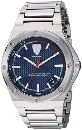 Ferrari Men's 'Aspire' Quartz 100 Stainless-Steel Watch, Color:Silver-Toned (Model: 0830530)