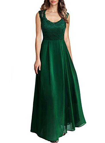 Arolina Women's Formal Floral Lace Vintage Wedding Evening Party Dresses (Green,XX-Large)