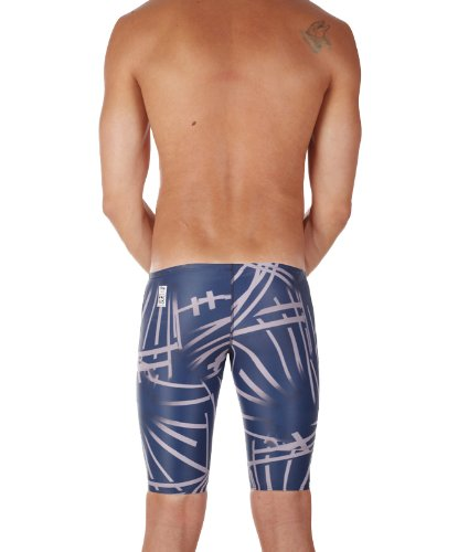 Jaked Men's COMPETITION J11 WATER ZERO PRINT TECHNICAL SWIMSUIT (18, Black/Gray)