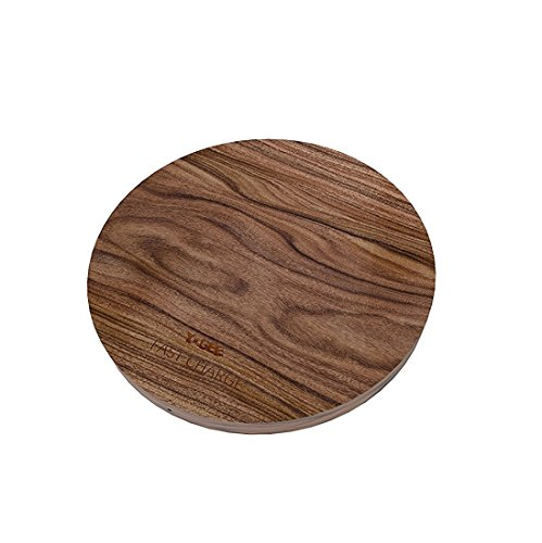 Wireless Charging Pad for iPhone X 8 Plus 8 Walnut Wood Hand-Made Qi 10W Fast Charge Wireless Charger Convertible for Samsung Galaxy Note 8 S8+ S8 S7 Edge S7 Note 5 Cellphones