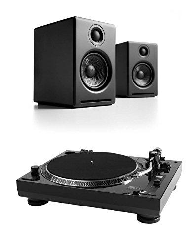 Audioengine A2+ Premium Powered Desktop Speakers (Pair, Black) / Music Hall USB-1 Turntable Bundle