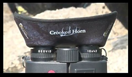 Crooked Horn Bino Bandit Binocular Shade - Blocks Wind and Glare, Improves Clarity (Olive Stealth)