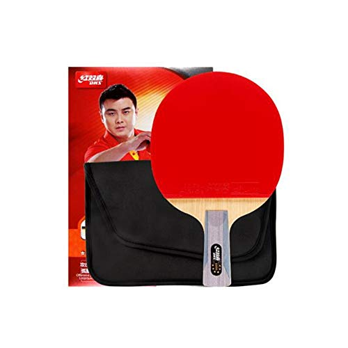HXSD 6 Stars, Double Sided, Long Anti-Adhesive Table Tennis, Pen-Hold, Horizontal Shot, Offensive and Defensive Combined with Table Tennis Bat, Single Shot (Edition : Horizontal Shot)