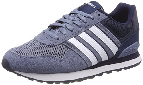 Adidas Ginnastica collegiate 10k Da Scarpe Steel footwear White Uomo raw Basse Navy Argento
