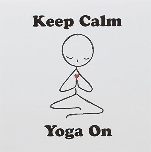 3dRose Greeting Cards, Keep Calm Yoga On. Meditation Stick Figure. Yoga. Lotus Position, Set of 6 (gc_123070_1) ()