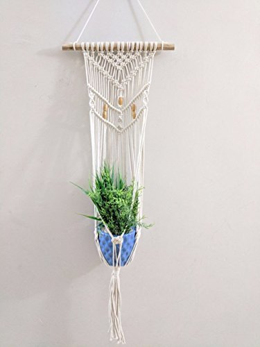 "Handmade Macrame Home & Garden Plant Hanger, Holder, planter | Boho Wall Decor | 41"" (1, Style 16)"