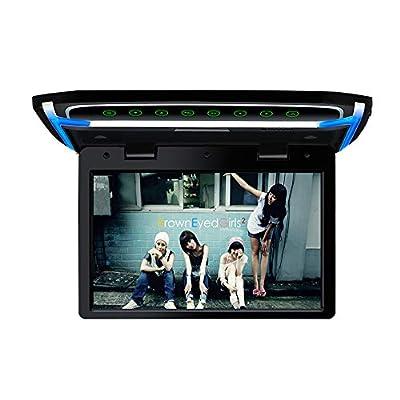 10.1 inch Car Overhead Monitor 1080P Video HD Digital TFT Screen Wide Screen Ultra-Thin Mounted Car Roof Flip Down Player HDMI IR FM USB SD: Car Electronics