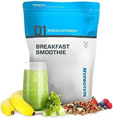 MyProtein Breakfast Smoothie Desayuno de Proteína, Sabor Plátano y Fresas - 1000 gr