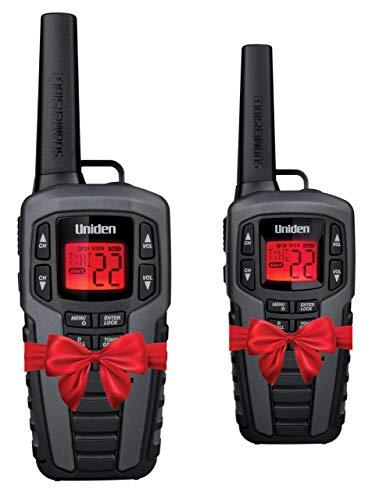 Uniden SX507-2CKHS Up to 50 Mile Range FRS Two-Way Radio Walkie Talkies W/Dual Charging Cradle, Waterproof, Floats, 22 Channels, 142 Privacy Codes, NOAA Weather Scan + Alert, Includes 2 Headsets (Radio Talkies)