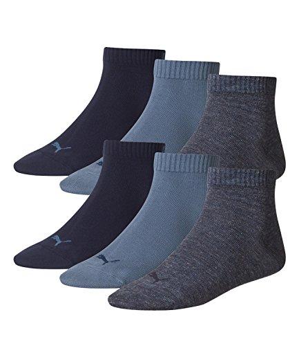 Blue 3 De Sport Mixte Uni Lot Quarter Puma Denim Adulte Chaussettes 460 wXxP4q6EO