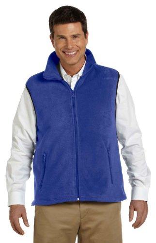 Harriton Mens Full Zip Fleece (Harriton Men's Midweight Full-Zip Fleece Vest, True Royal, XXXX-Large)