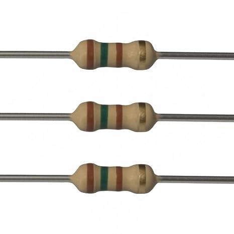 Pack of 100 HongYeTaja Carbon Film Resistor 150K Ohms 1//2 W 5/%